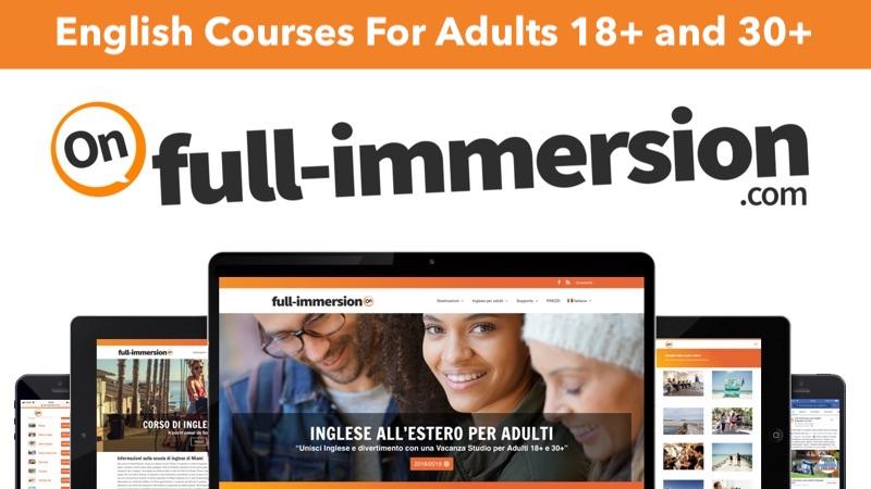 Corsi di Inglese per Adulti? Full-immersion Soggiorni Studio 18+ e 30+