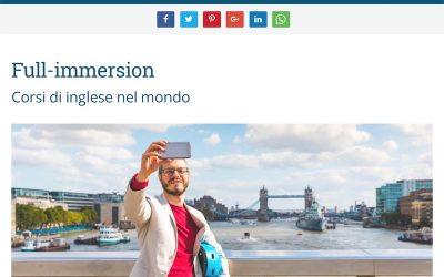 Full-immersion consigliato dal sito Vivere a Malta